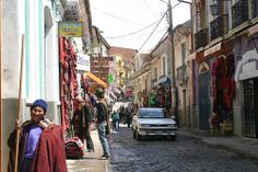 In the streets of La Paz, Bolivia