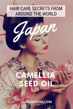 Hair Care Secrets From Around The World - Japan - Camellia Oil Read about best kept hair care secret Korean Hairstyles Women, Asian Men Hairstyle, Japanese Hairstyles, Asian Hairstyles, Men Hairstyles, Redhead Hairstyles, Natural Hair Growth Tips, Cabello Hair, Hair Care Recipes