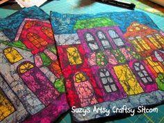 Hoy podrás aprender cómo pintar en tela con crayones con una técnica similar a la del batik.