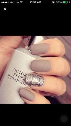 A gray matte with glitter! Victoria secret bombshell