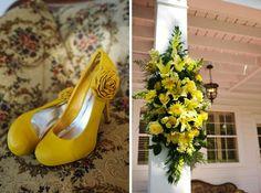 Yellow and gray wedding ideas