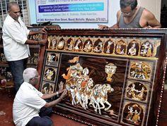 kerala inlay wood work - Google Search