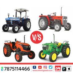 किसान भाइयों इन चारो ट्रैक्टरों में से कौनसा ट्रैक्टर खरीदना पसंद करेंगे , आपके हिसाब से कौनसा ट्रेक्टर हे टॉप का ट्रेक्टर - 1. John Deere 2. New Holland 3. Massey Ferguson 4. Kubota Tractor #NewHolalnd #KubotaTractor #JohnDeere #MasseyFerguson #KhetiGaadi