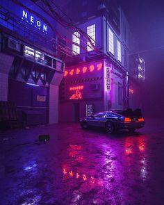 vaporwave neon ill drop a sick photo if this hits 100 notes Cyberpunk City, Ville Cyberpunk, Cyberpunk Aesthetic, Cyberpunk Fashion, Cyberpunk Tattoo, Cyberpunk 2077, Steampunk Fashion, Gothic Fashion, Dark Purple Aesthetic