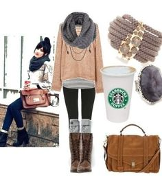 Adorable outfit:), and easy to find similar clothes to create this look!