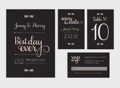 Love the wording...Printable Wedding Invitation Suite  Best Day Ever by GoldFoxPaper, $85.00