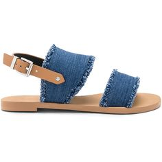Rebecca Minkoff Emery Sandal ($110) ❤ liked on Polyvore featuring shoes, sandals, synthetic shoes, rebecca minkoff, buckle strap sandals, rebecca minkoff sandals and rebecca minkoff shoes