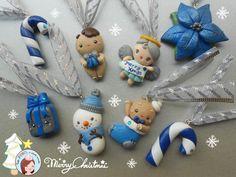 Christmas tree ornaments Silver & blue