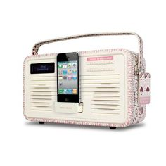 View Quest Emma Bridgewater Sampler Print Retro DAB-FM Radio With 30-Pin iPod-iPhone Dock