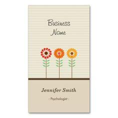 Psicólogo - tema floral lindo tarjetas de visita