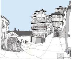 A minha contribuição para o evento espectacular que foi o « Vamos desenhar o Porto » ;-) . Maria Lopes .