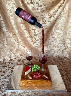 You have to see Pouring Wine Bottle Cake (With Instructions) by Connor Jackson!