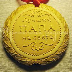 Кулинарные сувениры ручной работы. Ярмарка Мастеров - ручная работа Пряничная медаль. Handmade.