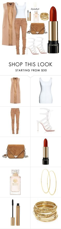 """StyledbyS"" by sforstylebys on Polyvore featuring Lipsy, Canvas by Lands' End, Balmain, Christian Louboutin, Alexander Wang, Lancôme, Tory Burch, Lana, Yves Saint Laurent and ABS by Allen Schwartz"