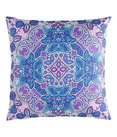 Cushion cover 50x50  £6.99  DESCRIPTION  CONSCIOUS. Cotton cushion cover with a print pattern and a concealed zip at one side.