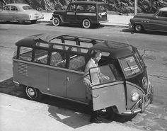 Vintage VW van photo