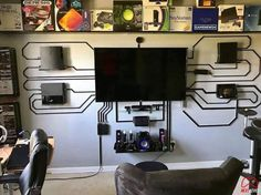 Wenn du Kabel-Porn liebst, dann sind diese 20 Fotos eine emotionale Achterbahn f… If you love cable porn then these 20 photos are an emotional roller coaster for you Video Game Rooms, Teen Game Rooms, Video Games, Gaming Room Setup, Best Gaming Setup, Gaming Rooms, Pc Setup, Game Room Design, Game Room Decor