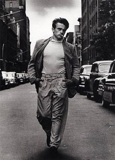 James Dean--this is the shot recreated by Bobby D On Freewheelin' Bob Dylan cover