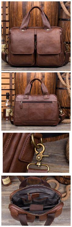 Ponza Leather Briefcase, Laptop Bag, Men's Leather Briefcase, Messenger, Floto Leather Bag MS149