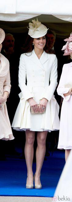 La Duquesa de Cambridge en la ceremonia de la Orden de la Jarretera