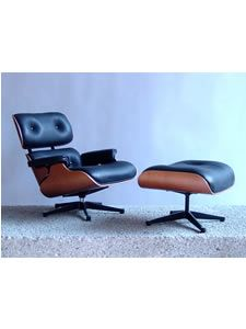 Designed by Charles and Ray Eames   Originally designed in 1956, reproduced in 1997     $735 The iconic Eames Lounge Chair and Ottoman (No. 670 and 671) is considered one of the most significant and loved furniture designs of the 20th century. Eames premiered it in 1956 and the next year was awarded the Milan Triennial prize in 1957 for comfort and elegance in modern design. The Lounge Chair immediately became an admired and pricey status symbol and remains one of our great design classics…