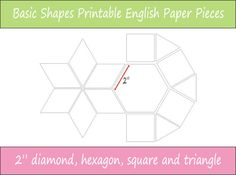 2 Printable Basic Shapes for English Paper by VickiIsaacsSews