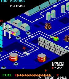 Zaxxon (1982)   by Sega - Screen Shot