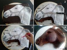 #Tutorial #tarta cabeza de #caballo