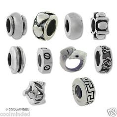 Carlo Biagi Spacer Beads, compatible with Pandora, Chamilia, Troll and more!