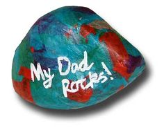 Fathers Day Crafts For Kids. My Dad rocks paper weight. Kids Crafts, Toddler Crafts, Preschool Crafts, Arts And Crafts, Toddler Art, Easy Crafts, Kids Diy, Rock Crafts, Easy Diy