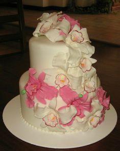 con flores y rosa