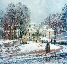 Claude Monet -The grand street entering to Argenteuil, winter. (1885)