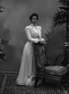 """Princess Alice of Battenberg: a great-grand daughter of Queen Victoria and mother of Prince Philip. Born at Windsor to Prince Louis of Battenberg & Victoria of Hesse-Darmstadt. She married Prince Andrew of Greece & Denmark before the 1917 """"purge"""" of royal titles in the UK, so was never technically a Mountbatten. One of only two members of the Greek Royal Family who remained in Athens during WWII, she helped many people escape the Nazi dragnets. Princess Alice lived well into the 1960's."""