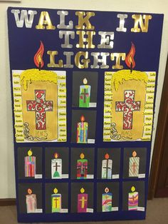 """Some of The First Holy Communion artwork on display in St.John the Apostle Church today. Classroom Prayer, Classroom Crafts, Classroom Ideas, School Displays, Classroom Displays, Catholic Art, Religious Art, Religion Activities, First Communion Decorations"