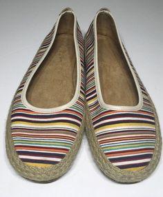 Aerosoles Espadrilles Size 9 5 Striped Colorful A2 Braided Jute Trim Summer Shoe | eBay