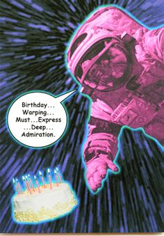 Funny cosmonaut birthday card is crafted in Popliments' copyrighted psychedelic pop art style. Inspired by a photo of a cosmonaut, this greeting card has a color palette of magenta, dark purple and blue.   Front: Birthday...Warping...Must...Express...Deep ...Admiration. Inside: Today is a good day to say I care about you. Dark Purple, Blue, Funny Greeting Cards, Psychedelic, Magenta, Pop Art, Birthday Cards, Palette, Deep