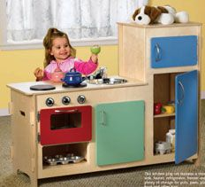 Woodworking Plans & Projects, Kitchen and Bath Projects - Play Kitchen Project Plan