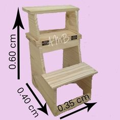 ladder bench in reinforced pine- banco escalera 3 escalones de pino reforzado ladder bench in reinforced pine - Woodworking Patterns, Woodworking Projects Diy, Diy Wood Projects, Woodworking Plans, Wood Crafts, Iron Furniture, Pallet Furniture, Furniture Styles, Wooden Folding Chairs