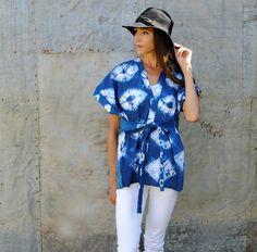 Trash To Couture: DIY Shibori Dyed Kimono