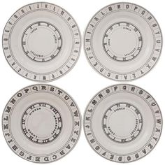 Revival Dinner Plates - Set of 4 from Home  Decorators