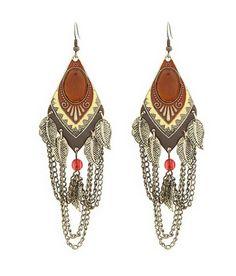 Bay Brown Tassel Earrings.