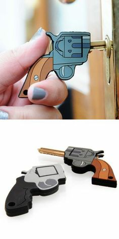 Gun idea key holder