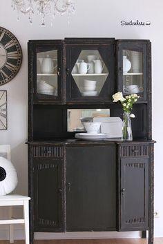 Küchenbuffet, Küchenschrank in Schwarz von Bleu et Rosé auf DaWanda.com