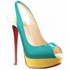 3fab62e336dc Christian Louboutin Lady Peep Slingback Pump   Christian Louboutin shoes