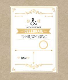 FREE Wedding Invitation Template via ahandcraftedwedding.com. #wedding…