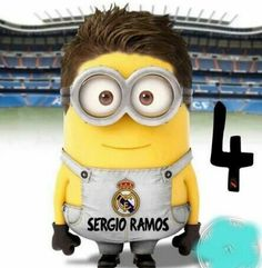 Real Madrid's star defender Sergio Ramos minion