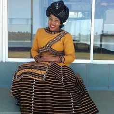 xhosa attire 2019 for African girls - fashion ShweShwe 1 South African Dresses, South African Traditional Dresses, African Dresses For Women, African Attire, African Fashion Dresses, African Tops, African Outfits, African Clothes, Xhosa Attire