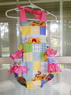 Baby Girl Sunsuit, Romper Bubble with Ruffles, Ruffle Sunsuit, Baby Girl Romper, Custom Boutique Children Clothing, Vinnie the Pooh
