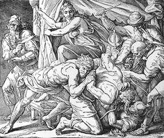 Bilder der Bibel - Simsons Fall - Julius Schnorr von Carolsfeld