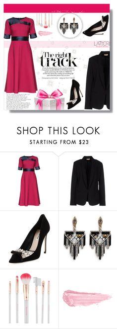 """Lattori Dress #12"" by cherry-bh ❤ liked on Polyvore featuring Lattori, Maesta, Miu Miu, Lulu Frost, Accessorize, By Terry, women's clothing, women's fashion, women and female"